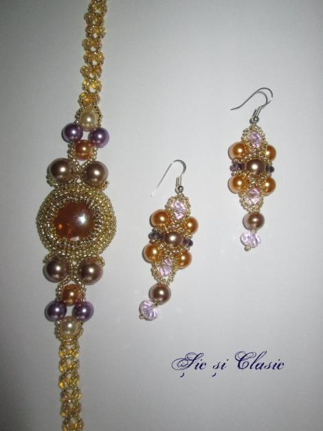 Clasic necklace and earings