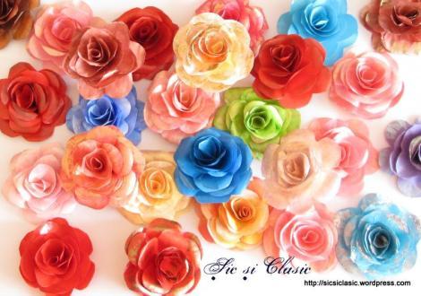 trandafiri din hartie