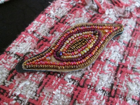 brooch jewelry silver gold design