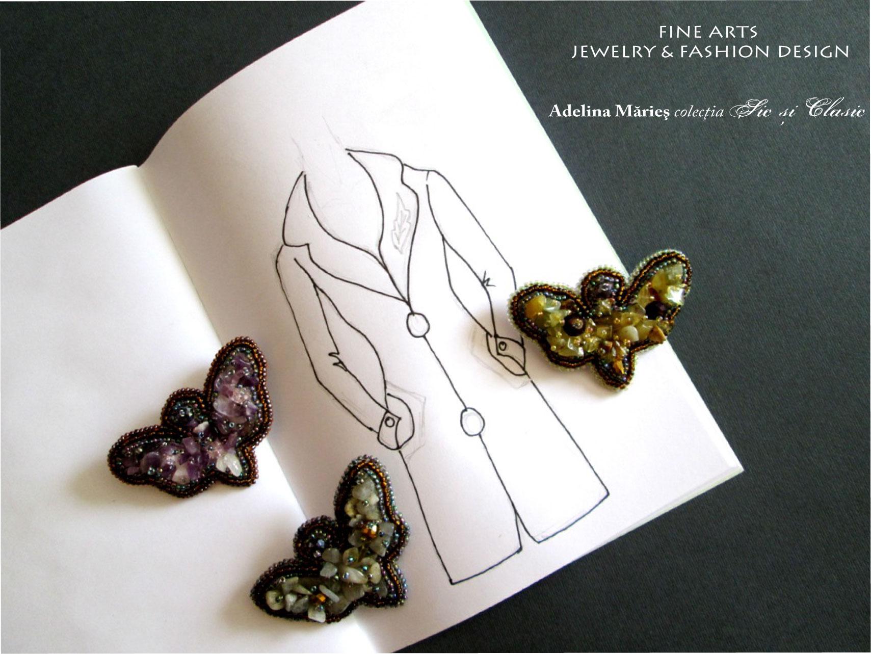haute couture butterflies  Amethyst, Jasper, Labradorite