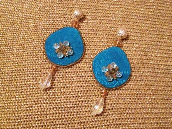 cercei albastru couture