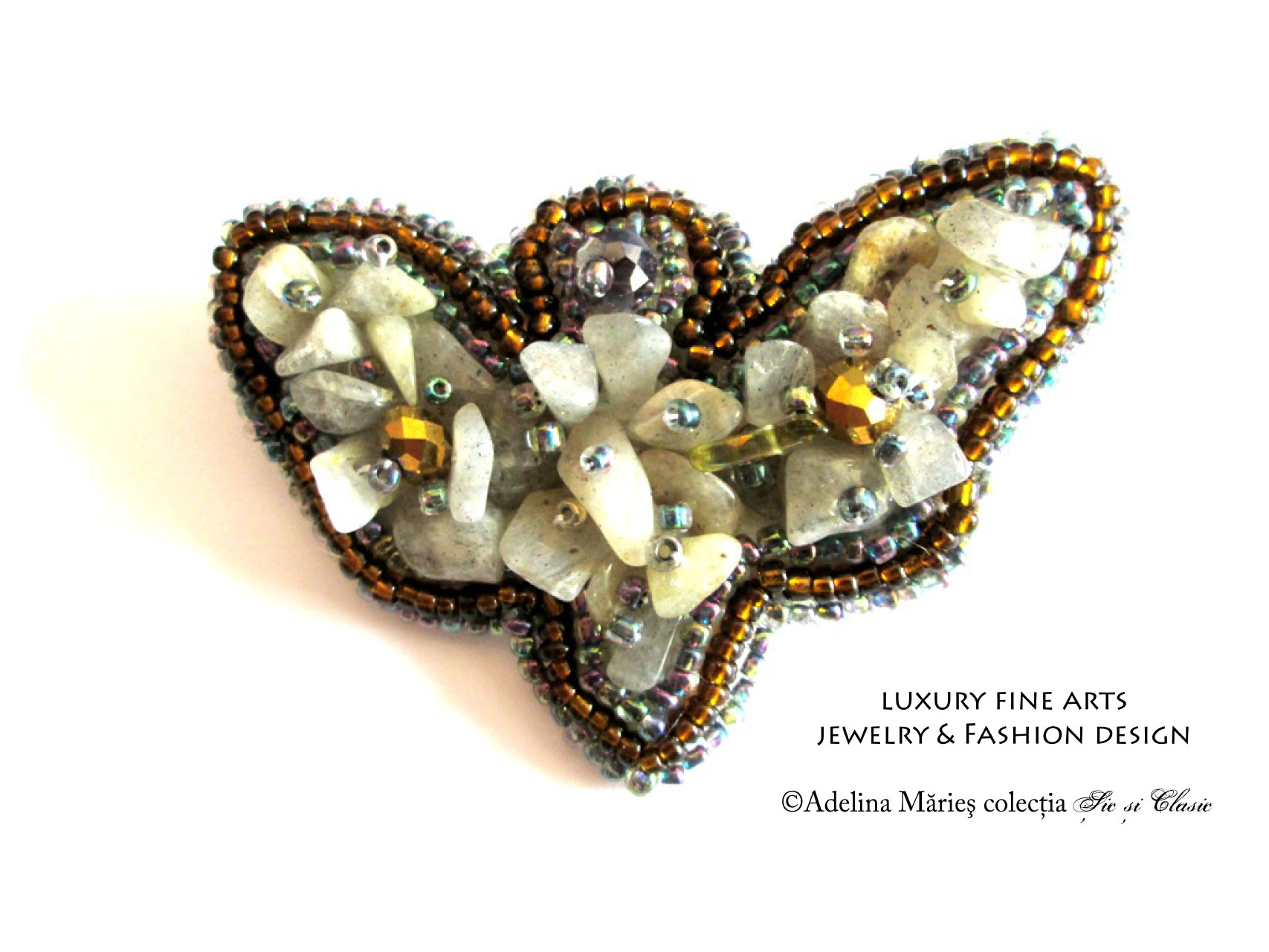 haute couture embroidery labradonit gemstone