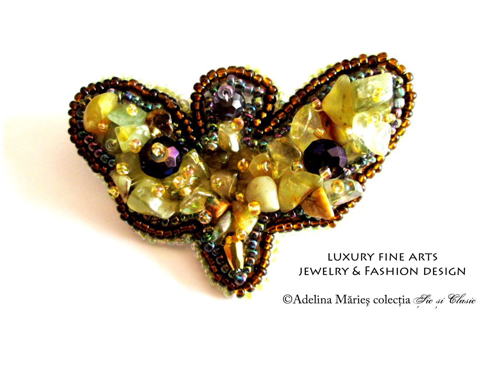 haute couture jewelry brooch jasper gemstone