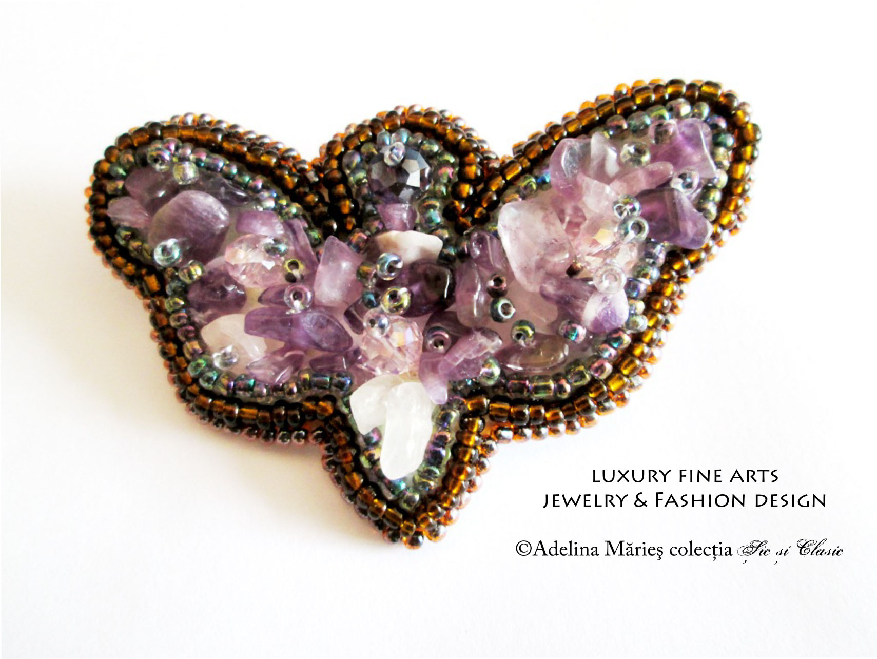 haute couture butterfly brooch