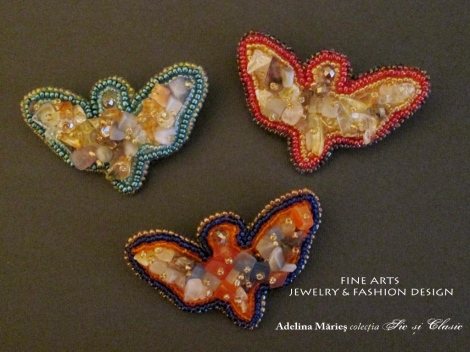 butterfly brooches Adelina Maries