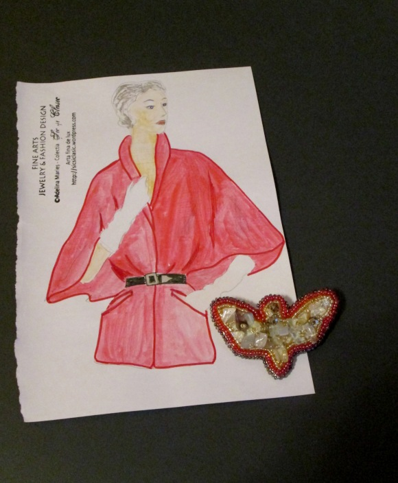 butterfly red fashion haute couture Adelina Maries
