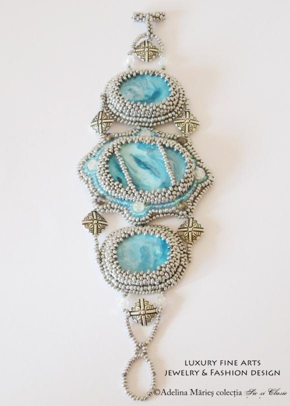 bijuterii ieftine culoare gri argint bratara