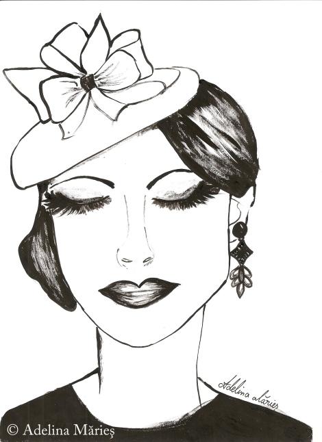 ink portrait adelina maries